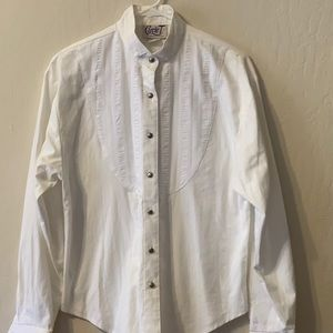 White country western blouse